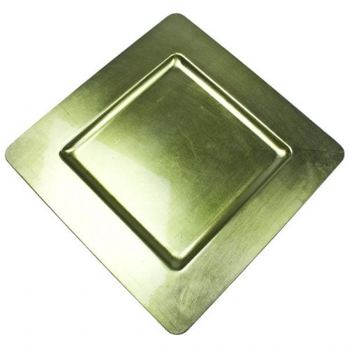 LIME GREEN Square Charger Plate / Underplate